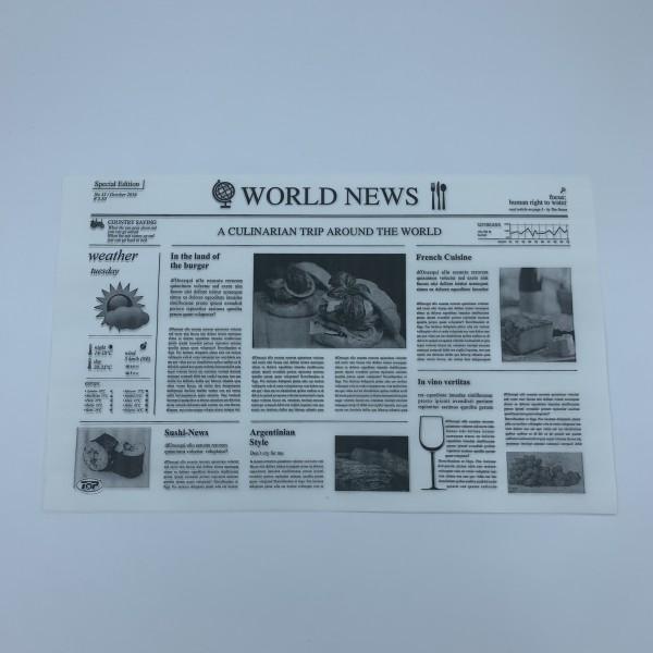 Einschlagpapier aus Pergament-Ersatz / Tablett-Unterlage