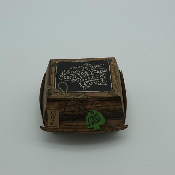 Hamburger Box mit Klappdeckel Enjoy