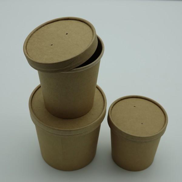 Soup To Go Becher Pappe mit PLA - Beschichtung